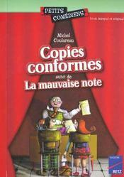 Copies conformes ; la mauvaise note ; 8/10 ans - Intérieur - Format classique