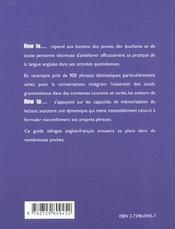 How To... Communiquer Au Quotidien Anglais - 4ème de couverture - Format classique