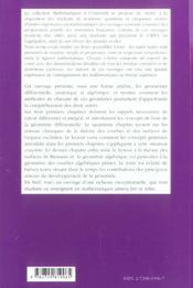Éléments de géométrie ; niveau M1 ; cours et exercices corrigés - 4ème de couverture - Format classique