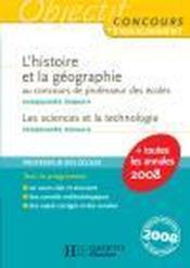 L'Histoire Geographie Au Crpe - Couverture - Format classique