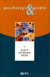 Ecole Et Psychologie Sociale - Couverture - Format classique