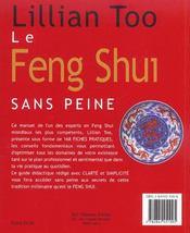 Le feng shui sans peine - 4ème de couverture - Format classique