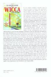 Grand Livre De La Wicca (Le) - 4ème de couverture - Format classique