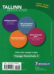 Le Guide Vert ; Week-End ; Tallinn - 4ème de couverture - Format classique