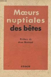 Moeurs Nuptiales Des Betes - Couverture - Format classique