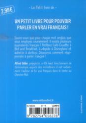 Le petit dico franglais-français - 4ème de couverture - Format classique