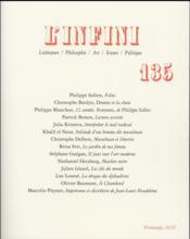 Revue L'Infini N.135 - Couverture - Format classique