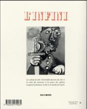 Revue L'Infini N.135 - 4ème de couverture - Format classique