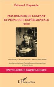 Psychologie de l'enfant et pédagogie expérimentale (1905) - Couverture - Format classique