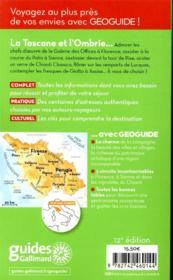 GEOguide ; Toscane ; Ombrie (édition 2020) - 4ème de couverture - Format classique