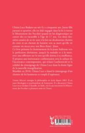 Chiara Luce : de la sainteté à l'évangélisation - 4ème de couverture - Format classique