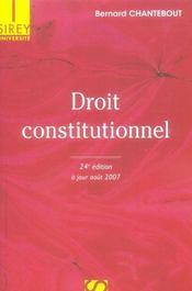 Droit Constitutionnel (24e Edition) - Intérieur - Format classique