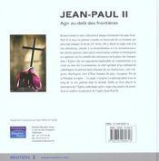 Jean-Paul Ii - 4ème de couverture - Format classique