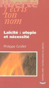 Laicite : Utopie Et Necessite - Intérieur - Format classique