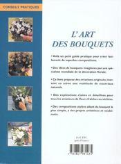 L'Art Des Bouquets - 4ème de couverture - Format classique