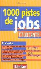 1000 pistes de jobs etudiants - Intérieur - Format classique