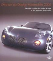 L'annuel du design automobile, 2005 le guide mondial des etudes de style et des nouvelles automobile (édition 2005) - Intérieur - Format classique