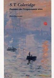 S.T. Coleridge. Poemes De L'Experience Vive - Couverture - Format classique