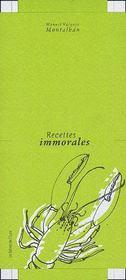 Recettes immorales - Couverture - Format classique