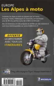 Europe ; les Alpes à moto - 4ème de couverture - Format classique