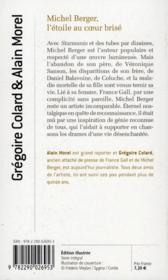 Michel Berger ; l'étoile au coeur brisé - 4ème de couverture - Format classique