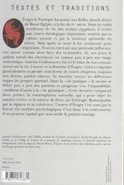 Un Philosophe Au Desert Evagre Le Pontique - 4ème de couverture - Format classique
