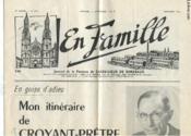 En Famille N°243 - Journal De La Paroisse De Sacre-Coeur De Bordeaux - En Guise D'Adieu : Mon Itineraire De Croyant-Pretre - Couverture - Format classique