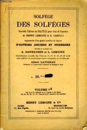 Solfege Des Solfeges Volume 3 E - Couverture - Format classique