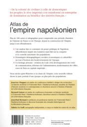 Atlas de l'empire napoléonien, 1799-1815 - 4ème de couverture - Format classique