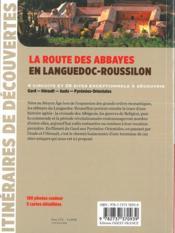La route des abbayes en Languedoc-Roussillon - 4ème de couverture - Format classique