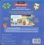 Pompy super pompier ; mon livre puzzle ; les camions des pompiers - 4ème de couverture - Format classique