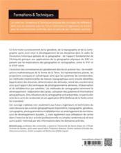 Géodésie, topographie, cartographie - 4ème de couverture - Format classique