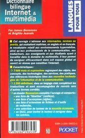 Dictionnaire bilingue Internet et multimédia - 4ème de couverture - Format classique
