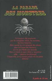 La Parade Des Monstres T.1 ; La Saga De Darren Shan - 4ème de couverture - Format classique