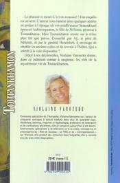 Toutankhamon - tome 2 la fille de nefertiti - vol02 - 4ème de couverture - Format classique