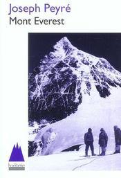 Mont Everest - Intérieur - Format classique