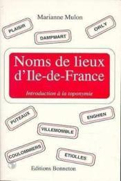 Noms de lieux d'ile de france - Couverture - Format classique