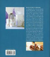 Creations Calligraphiees En Papier - 4ème de couverture - Format classique