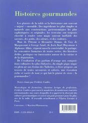 Histoires gourmandes - 4ème de couverture - Format classique