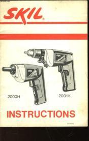 Skil Instructions - 2000h - 2001h - Couverture - Format classique