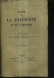 Traite De La Paternite Et De La Filiation / 4e Edition. - Couverture - Format classique