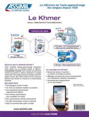 Le khmer ; débutants et faux-débutants B2 - 4ème de couverture - Format classique
