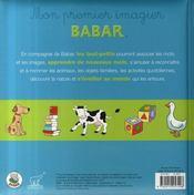 Babar ; mon premier imagier - 4ème de couverture - Format classique