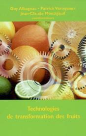 Technologies de transformation des fruits coll staa - Couverture - Format classique
