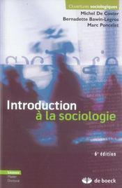 Introduction à la sociologie (6e édition) - Intérieur - Format classique