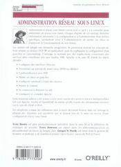 Administration Reseau Sous Linux 3e Edition - 4ème de couverture - Format classique