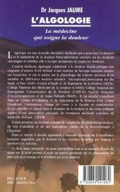 Algologie (l') - 4ème de couverture - Format classique