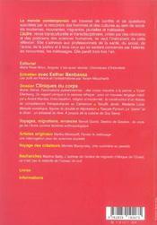 Revue L'Autre N.17-2 ; Cliniques Du Corps - 4ème de couverture - Format classique