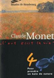 Claude monet. pour prendre un bain de nature t.4 - Couverture - Format classique