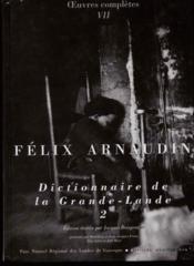 Dictionnaire de la Grande-Lande t.2 - Couverture - Format classique